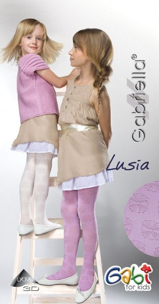 Gabriella Strumpfhose mit Blumenmuster fuer Maedchen Lusia