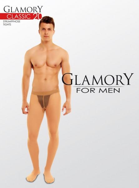 Glamory Classic 20 - Transparente Strumpfhose für Männer