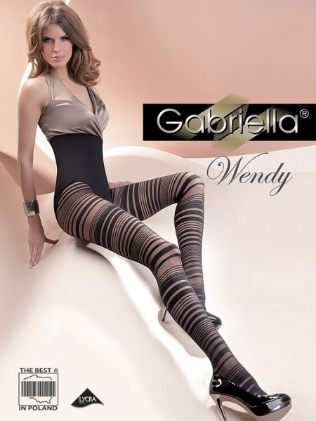 Gabriella Modische Strumpfhose mit Ringelmuster Wendy