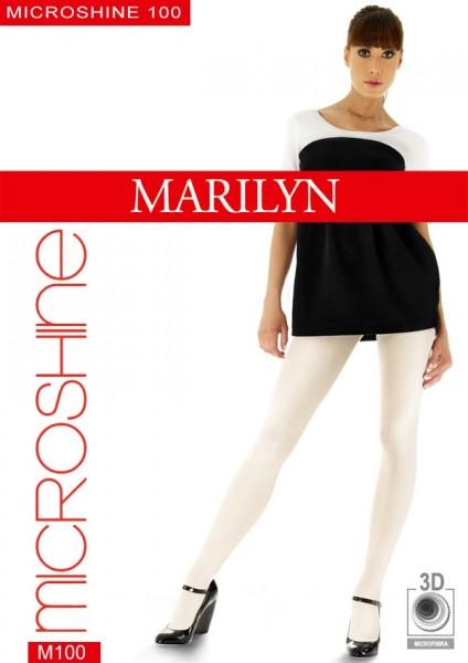 Glänzende blickdichte Strumpfhose Microshine von Marilyn 100 DEN