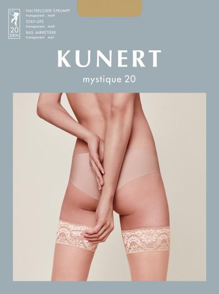 Kunert Mystique 20 - Matte halterlose Strümpfe mit dekorativem Abschlussband