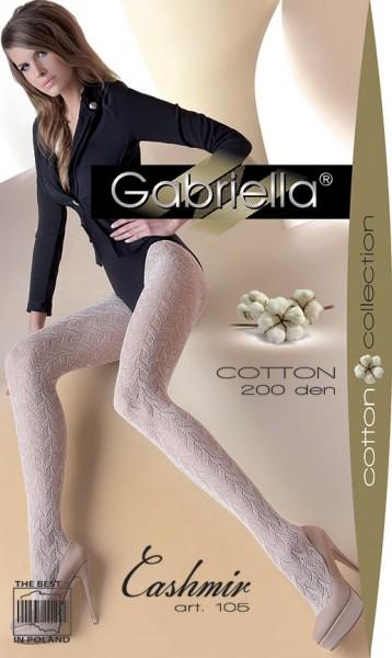 Gabriella Gemusterte Netzstrumpfhose mit Baumwolle Cashmir 105