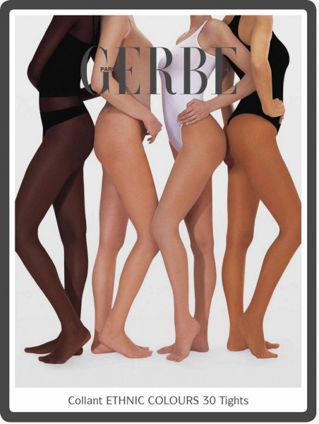 Gerbe Feinstrumpfhose fuer jede Hautfarbe Ethnic Colours 30 DEN