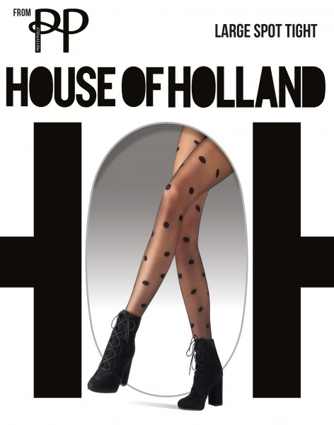 House of Holland for Pretty Polly Large Spot - Feinstrumpfhose mit Tupfenmuster