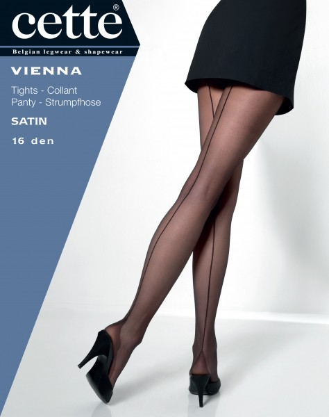 Cette Vienna - Feinstrumpfhose mit rückseitiger Naht und Hochferse