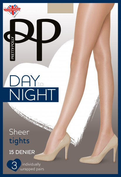 Pretty Polly Day to Night - 3 Paar klassische Feinstrumpfhosen