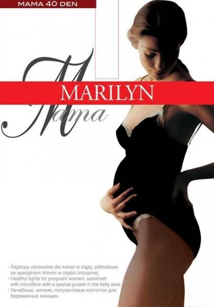 Marilyn Glatte Strumpfhose fuer Schwangere Mama, 40 DEN