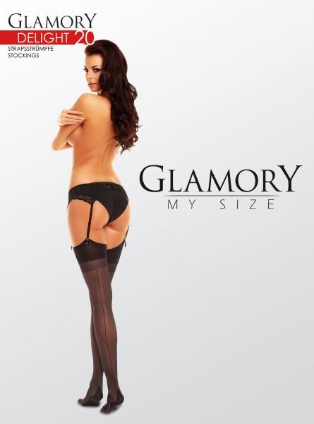 Glamory Delight 20 - Klassische Nahtstrümpfe in Übergrößen