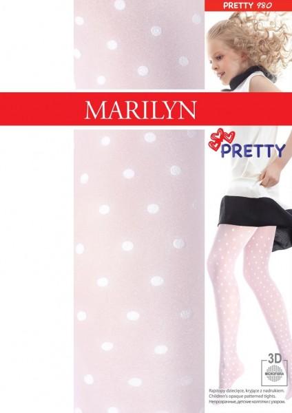 Marilyn Strumpfhosen fuer Maedchen mit Puenktchen Pretty, 40 DEN