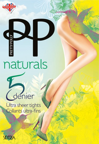 Pretty Polly Hauchdünne Sommerstrumpfhose Naturals 5 DEN Sideria