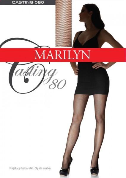 Marilyn Strumpfhose mit sehr dichter Netzstruktur Casting 80