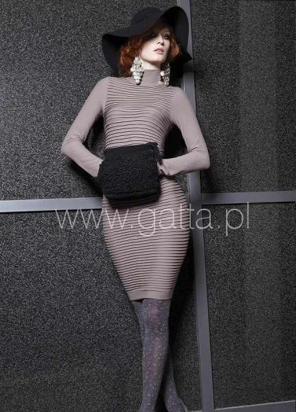 Gatta Bequemes und elegantes Kleid mit Halb-Rollkragen Wall Dress