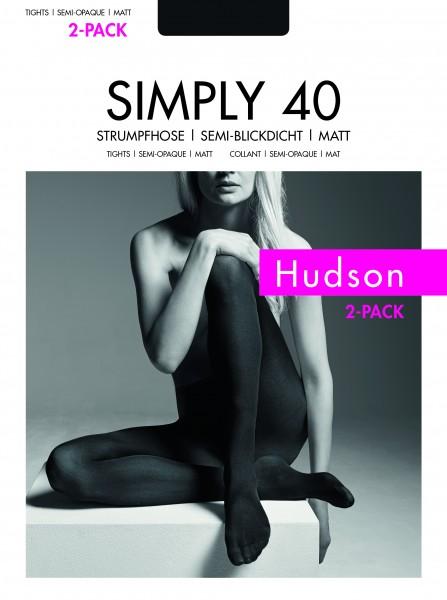 Hudson Simply 40 - Semi-blickdichte matte Strumpfhose - 2 Paar!