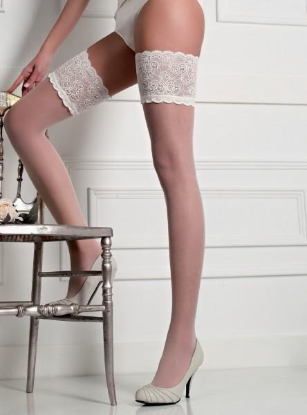 Cecilia de Rafael Naomi elegante halterlose Struempfe mit breitem Zierband