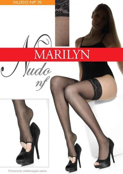 Marilyn Halterlose Struempfe mit offener Spitze Nudo 15 DEN