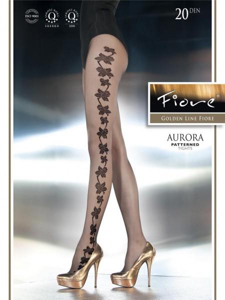 Fiore Elegante Feinstrumpfhose mit blumigem Muster Aurora 20 DEN