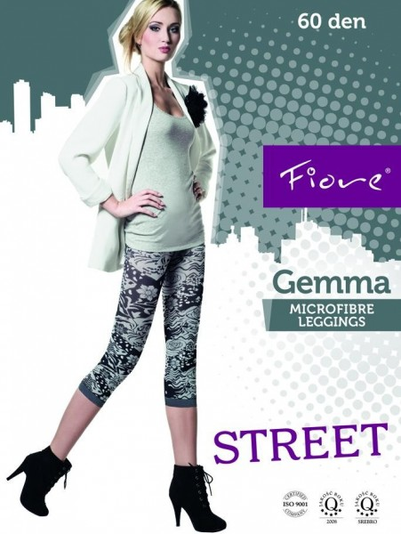 Fiore 3/4-Leggings mit blumigem Muster Gemma 60 DEN