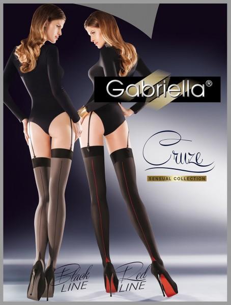 Blickdichte weiche Strapsstrümpfe mit Naht von Gabriella