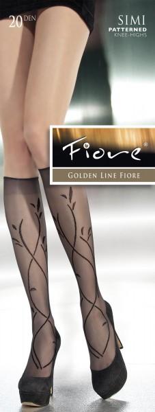 Fiore Feinkniestruempfe mit floralem Muster Simi, 20 DEN