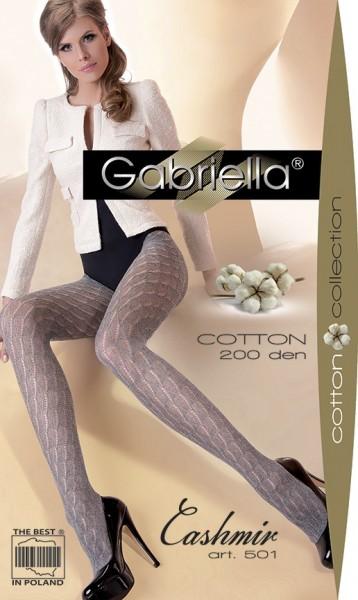 Gabriella Gemusterte Netzstrumpfhose mit Baumwolle Cashmir 501