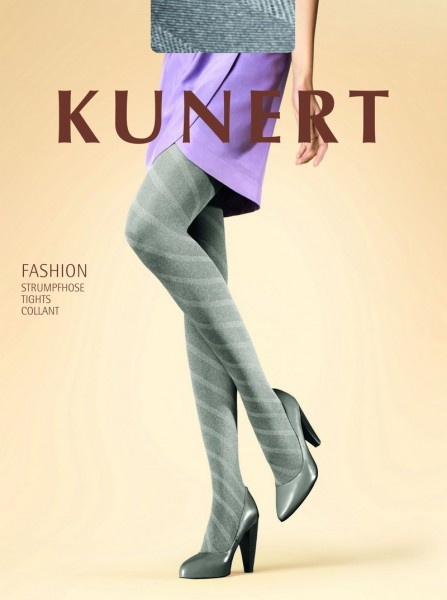 Kunert Blickdichte Damenstrumpfhose mit Muster Diagonal 40 DEN