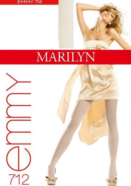 Marilyn Elegante Strumpfhosen mit Streifenmuster Emmy, 20 DEN