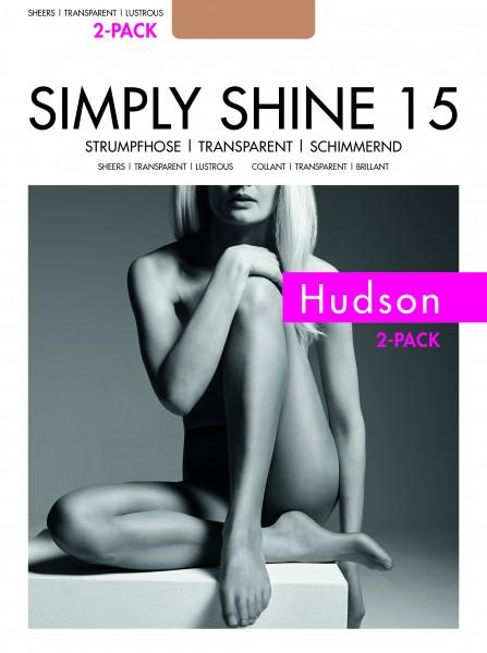 Hudson Simply Shine 15 - Transparente, schimmernde Feinstrumpfhose - 2-pack!