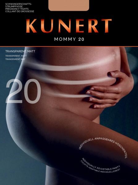 KUNERT Mommy 20 - Transparente Schwangerschaftsstrumpfhose