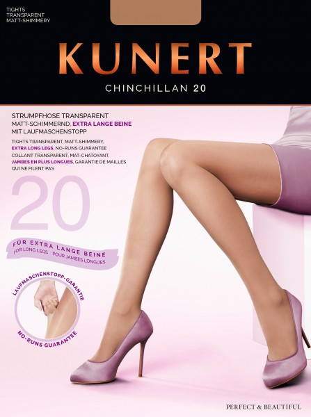 Kunert Chinchillan 20 - Feinstrumpfhose mit Laufmaschenstopp für extra lange Beine