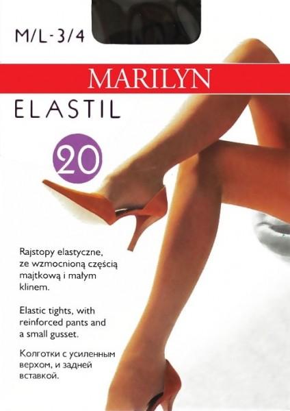 Marilyn Glatte elastische Feinstrumpfhose Elastil 20 DEN