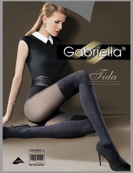 Modische Strumpfhose mit Muster im Overknee-Look Tida von Gabriella