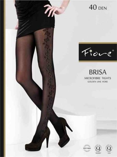 Fiore Feinstrumpfhose mit floralem Muster Brisa 40 den