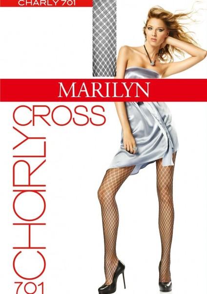 Marilyn Netzstrumpfhosen mit Netzstruktur in eleganter Rautenoptik Charly Cross, 30 DEN