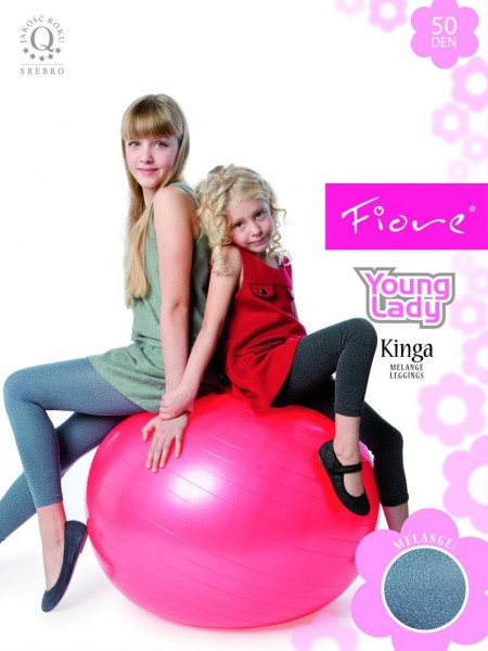 Fiore Lange Leggins fuer Kinder in Melange-Optik Kinga 50 den