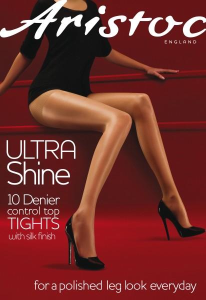 Aristoc Ultra Shine Control Top - Glänzende Feinstrumpfhose mit figurformendem Höschenteil