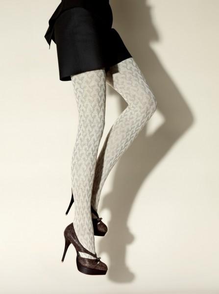 Gerbe Designerstrumpfhose mit durchgehendem Muster Tendrement
