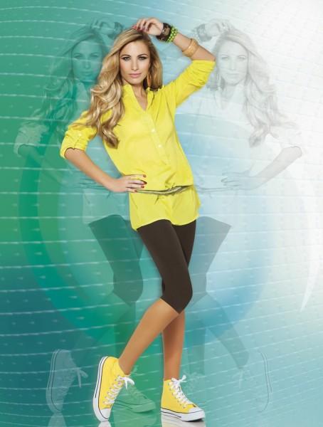 Annes Styling Blickdichte Capri-Leggings mit nahtlosem H