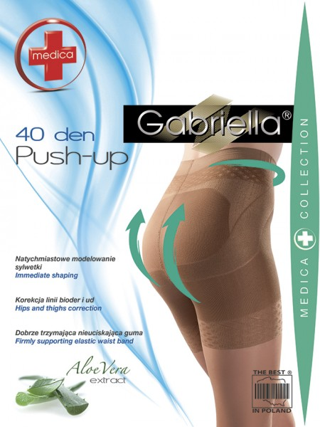 Gabriella Figurformende Strumpfhose Push Up, 40 den