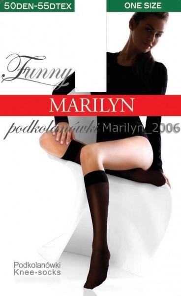 Marilyn Bequeme, blickdichte Kniestruempfe Funny von Marilyn, 50 DEN