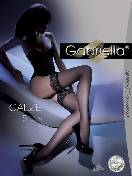 Gabriella Klassische halterlose Strümpfe Calze, 15 DEN