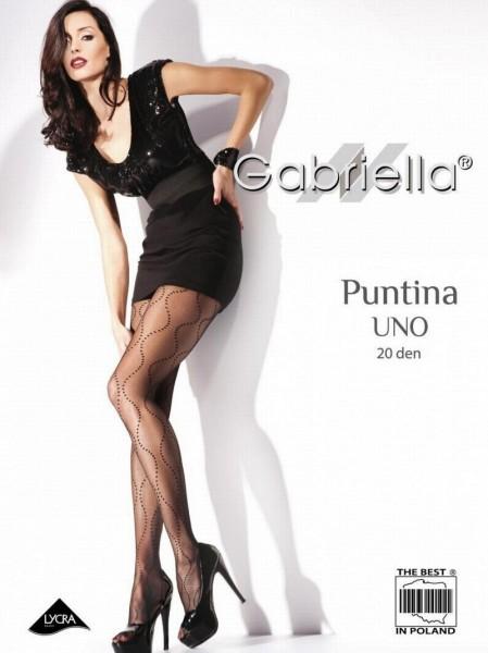 Gabriella Elegante Feinstrumpfhose mit Tupfenmuster Puntina Uno 20 DEN