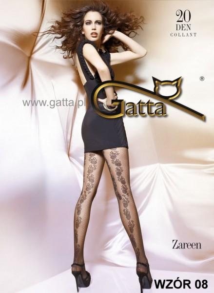 Gatta Elegante Strumpfhose mit blumigem Muster Zareen 08, 20 DEN