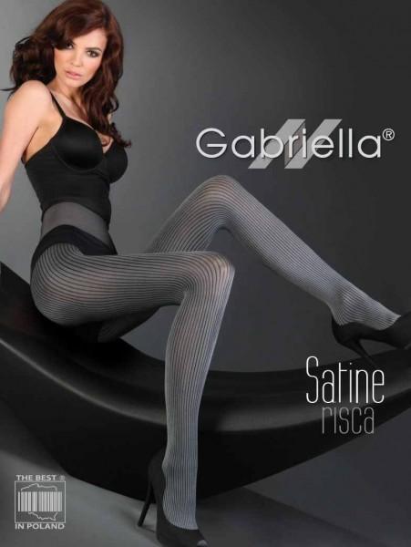Gabriella Dezent glaenzende Strumpfhose Risca Satine mit Streifen-Muster