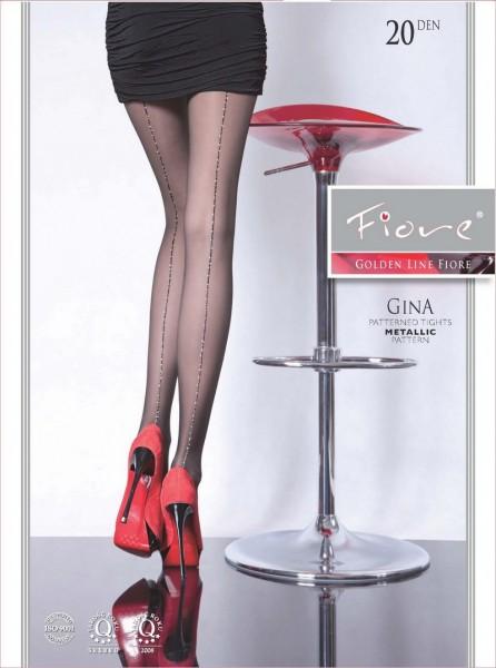 Fiore Sexy Feinstrumpfhose mit Muster Gina 20 DEN
