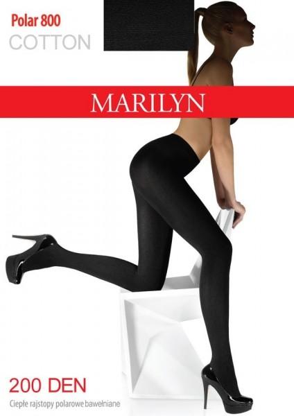 Marilyn Blickdichte warme Baumwollstrumpfhose Polar, 200 DEN