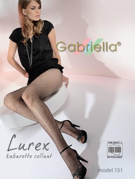 Gabriella Dezent glaenzende Netzstrumpfhose Kabarette Lurex