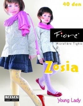 Fiore Kinderstrumpfhosen mit blumigem Muster Zosia 40 DEN