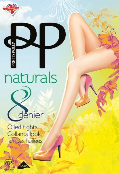 Pretty Polly Hauchdünne Sommerstrumpfhose Naturals 8 DEN Oiled