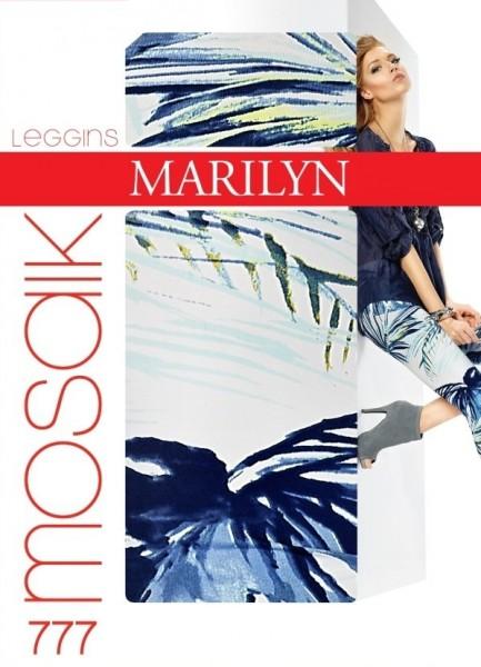 Marilyn 7/8-lange Leggings mit trendigem blumigem Muster Mosaik, 120 DEN