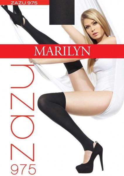Marilyn ueberkniestruempfe mit Steg Zazu von Marilyn, 100 DEN